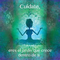 Cuídate, eres el jardín que crece en tí.  Meditación, espiritualidad, paz interior, salud, tranquilidad, filosofía de vida, superar los miedos, fobias, ansiedad, depresión, ser feliz, felicidad.                                                                                                                                                      Más
