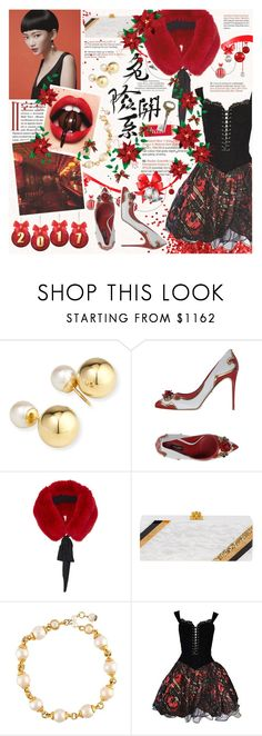 """[265] we were dancing all night"" by yuuurei ❤ liked on Polyvore featuring Yoko London, Dolce&Gabbana, Cinq à Sept, Edie Parker, Chanel, Vicky Tiel, Roberto Cavalli, red, danceparty and NewYearsEve"