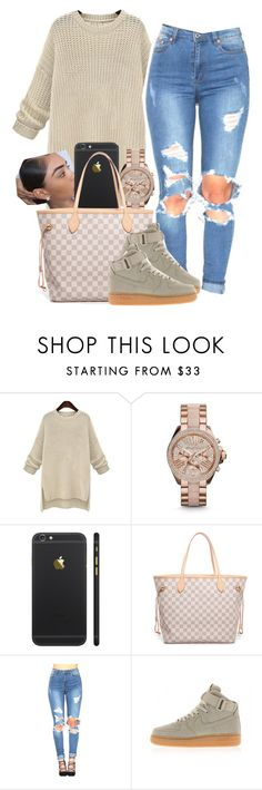 """12 . 29 . 15"" by shellyzz ❤ liked on Polyvore featuring Michael Kors, Louis Vuitton and NIKE"