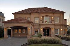 luxury mediterranean homes Classic House Exterior, Dream House Exterior, House Paint Exterior, Exterior Homes, Modern Exterior, Modern House Plans, Modern House Design, Mediterranean Style Homes, Luxury Homes Dream Houses