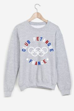 t shirt petanque - vintage style blue white red - sweatshirt