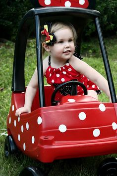 mous birthday, interior, polka dots, birthday parties, mobil, cozy coupe, minnie mouse party, minni mous, kid
