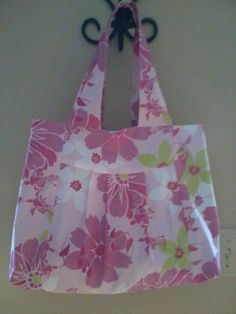 Pink Spring Floral Print Hand Bag by rebeccaanndesigns on Etsy, $40.00