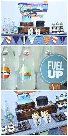 Vintage Car Birthday - great for your big guys as well as your little ones.  Some cute ideas for Peyton's 3rd Birthday party.                                                                                                                                                                                 More