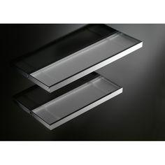Gatco 4246 Latitude Ii Glass Shelf Chrome Mounted Bathroom