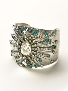Sparkling Spectacle Cuff in Viridescence by Sorrelli - $210.00 (http://www.sorrelli.com/products/BCQ15ASVR)