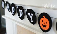 Adecuado para los niños ideas de decoración de Halloween - bandera