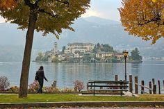 San Giulio island, Lake Orta, Italy