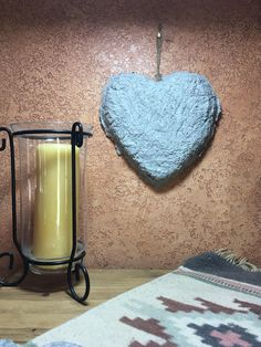 Items similar to Rough n Rustic Cement Handmade OOAK Unique Wall Heart Love Art Home Decor Anniversary or Wedding Gift or Bridal Shower Gift Personalize on Etsy Rustic Wall Decor, Rustic Walls, Wedding Anniversary Gifts, Wedding Gifts, Wedding Decor, Love Gifts, New Baby Gifts, Birthday Gifts For Girlfriend, Girlfriend Gift