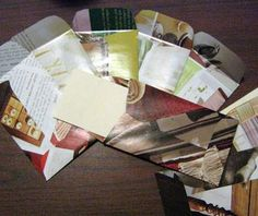 Use catalog and junk mail to make envelops