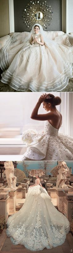 We love wedding dress that offer a blend of glamour and regal elegance. Bridal trends invariably come and go, but the looks we are about to introduce below are clearly destined to be loved forever! If you're looking for a gown that truly evokes timeless glamour, check out these jaw-droppingly gorgeous designs and get ready to swoon!