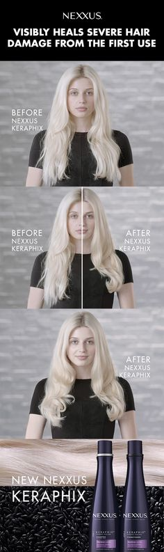 Get stronger, smoother hair from day one of using Nexxus Keraphix. Try for yourself!