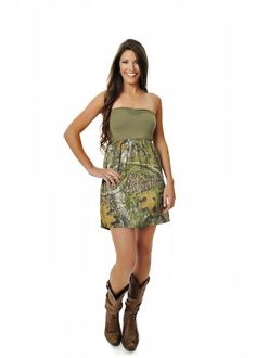 Girls With Guns Clothing Mossy Oak Camo Sundress - Mossy Oak Obsession / Olive