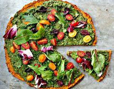 Vegan Pizza - Butternut Squash + Chickpea Flour Crust #yum