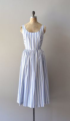 striped cotton dress / vintage striped sundress / Quidi Vidi dress