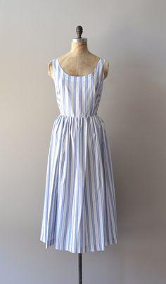 striped cotton dress / vintage striped sundress / Quidi Vidi dress
