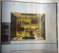 Kitchen in a cupboard - from home building and renovation magazine