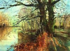 """The Majestic Oaks (£330)"" - Original Fine Art for Sale - © Nigel Fletcher"