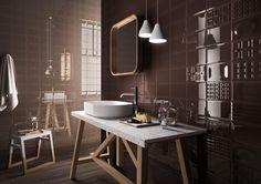 Tiles CENTO PER CENTO, salle de bain moderne ceramic bicuisson [AM CENTO 7]