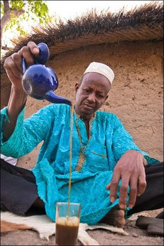 The Fulani share the Tuareg tea practices. In Benin Republic, via the Pulaku Project, 2011