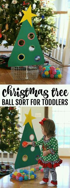 Tree Ball Sort for Toddlers - I Can Teach My Child! Christmas Tree Ball Sort for Toddlers - I Can Teach My Child!,Christmas Tree Ball Sort for Toddlers - I Can Teach My Child! Noel Christmas, All Things Christmas, Christmas Breaks, Cheap Christmas, Reindeer Christmas, Winter Christmas, Christmas Cookies, Christmas Activities For Kids, Toddler Christmas Crafts