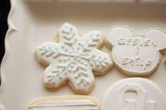 www.SoonerSugar.com,  white on white cookies, OU cookies, Starbucks cookies, snowflake cookies, Texas cookies, Clef note cookies, wedding cake cookies, Friends cookies, anniversary cookies, timeline cookies, sooner sugar sugar cookies