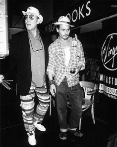 Hunter S. Thompson and Johnny Depp