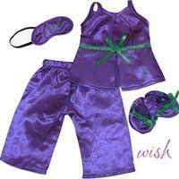 "Fits American Girl 18"" Purple Pajamas, Slippers, Eye Mask - 18 Inch Doll Clothes/clothing $15.99 (16% OFF)"