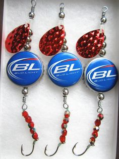 Beer Cap Fishing Lures  Gifts for Men  Bud by AudaciousApproach, $15.00