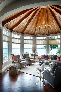 Make the sunroom an extension of your interior [Design: Denali Custom Homes] Interior Design Inspiration, Home Interior Design, Design Ideas, Interior Ideas, Casa Top, Design Patio, Silo House, Sunroom Decorating, Sunroom Ideas