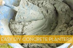 How to: Make Easy and Elegant DIY Concrete Planters » Curbly | DIY Design Community