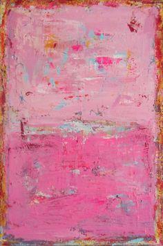 Modern Art Pink Art. Abstract Original Painting 24x36 by Faithart, $300.00