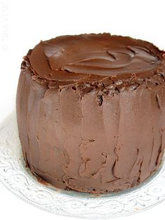 Totally chocolate ombre cake