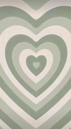 Wallpapper green heart aesthic