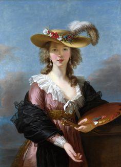Self-portrait in a Straw Hat by Elisabeth-Louise Vigée-Lebrun, 1782