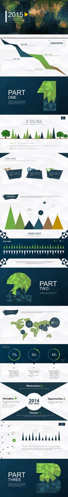 Visualisation Presentation   Low Poly Template (Forest) on Behance