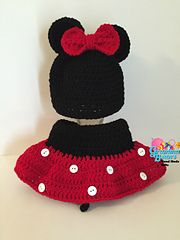 #Mickey & #Minnie #Mouse #Diaper Cover & #Beanie #crochetpattern by Gramma Beans #halloween #photoprops #disney