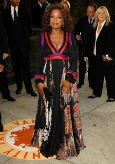 Oprah Winfrey attends the 2007 Vanity Fair Oscar Party. via StyleList