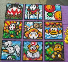 Super Mario World 2: Yoshi's Island Perler Panels by HollyGreenGames, via Flickr