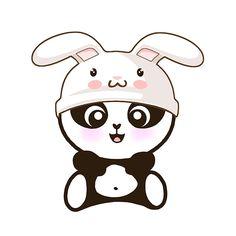 Easter Bunny panda, lil'panda #panda #cute #kawaii #Easter www.lilpanda.com