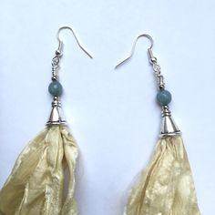 c933fbbe7 Listed on Depop by karmastrings. Sari Silk, Beautiful Earrings ...