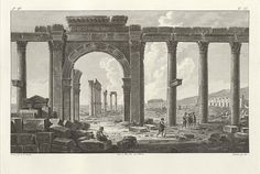 Tribute to Palmyra Is the Getty's First-Ever Online Exhibition Palmyra, Historical Images, Brooklyn Bridge, Art And Architecture, Views Album, Floors, Buildings, Middle, Syria