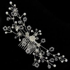 Bridal Wedding Accessory - Beautiful Handmade Sprayed Crystal Bridal Hair Comb - Free Gift Pouch / Box by Hair Accessories Direct.co.uk, http://www.amazon.co.uk/dp/B007VT61TM/ref=cm_sw_r_pi_dp_tQAvrb0BQZ42S
