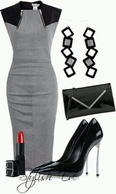 7 ways to wear a gray dress at work - women-outfits.com