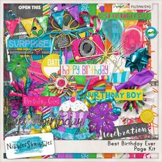 Personal Use :: Kits :: Best Birthday Ever Kit by Nibbles Skribbles
