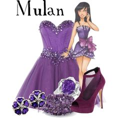 Disney High Mulan by murphylovesturtles on Polyvore featuring polyvore, fashion, style, Anoushka G, Call it SPRING, Allurez and Disney