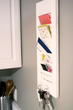 Re-purposed Shutter Mail and Key Holder