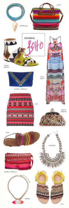 Global Boho Style. I love boho. I want every piece in this picture.