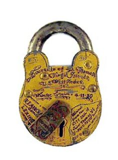 Tattooed padlock