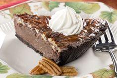 Chocolate Pecan Fudge Pie | MrFood.com